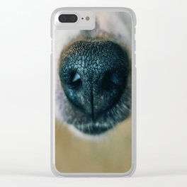 Dog face 2 Clear iPhone Case