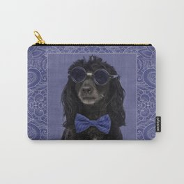 Poodle Dog with glasses and bow tie Carry-All Pouch