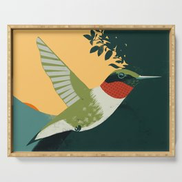 Ruby-Throated Hummingbird Serving Tray
