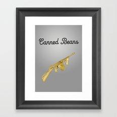Canned Beans Framed Art Print