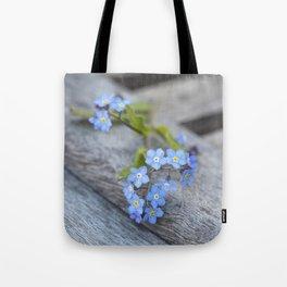 blue flower Fortget Me Not Tote Bag