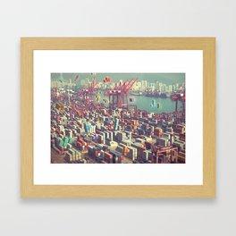 Pier Tetris Framed Art Print