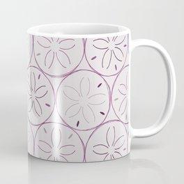 Sanddollar Pattern in Purple Coffee Mug