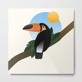 Jungle Toucan Metal Print
