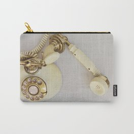 Vintage Cream and Gold Phone Carry-All Pouch