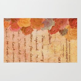 The Lonely Rose Garden Rug