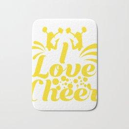 "Cheerleading Tee Perfect Gift For Cheerleaders Saying ""I Love Cheer!"" T-shirt Design Coach Cheers Bath Mat"