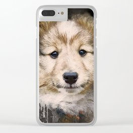 Dog Puppy Pup Shetland Clear iPhone Case