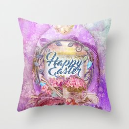 Violette Easter Throw Pillow