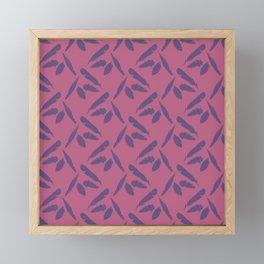 Purple Feathers Framed Mini Art Print