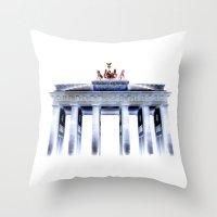 berlin Throw Pillows featuring berlin. by zenitt