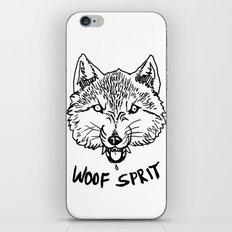 Woof Sprit! iPhone & iPod Skin