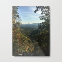 amicalola falls mountain view Metal Print