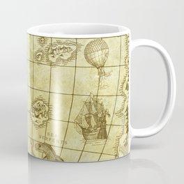 Here Be Monsters Map Coffee Mug