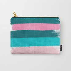 Holden - abstract painting minimal brushstrokes painterly boho modern trendy girly art Carry-All Pouch