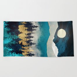 Evening Mist Beach Towel