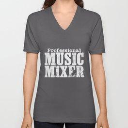 Music Mixer DJ Gift | Disc Jockey Party Festival Unisex V-Neck