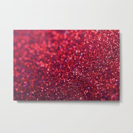 Beautiful Red Glitter Sparkle Metal Print