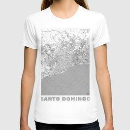 Santo Domingo Map Line T-shirt