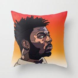 Isaiah Rashad Throw Pillow