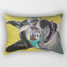 Frosty Face Friday with Gracie Gabriella at the Beach Rectangular Pillow