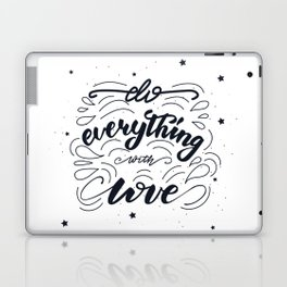 Do everything with love lettering design Laptop & iPad Skin