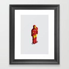 Ironman - Isometric Heroes Framed Art Print