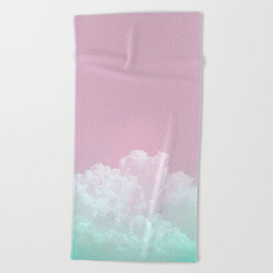 Dreamy Candy Sky Beach Towel
