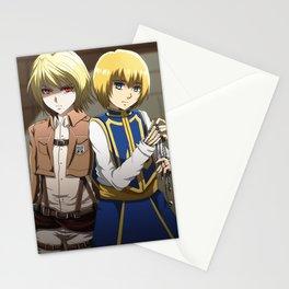 Crossover - Armin and Kurapika Stationery Cards
