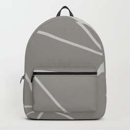 Geometric pattern shapes - white and beige Backpack