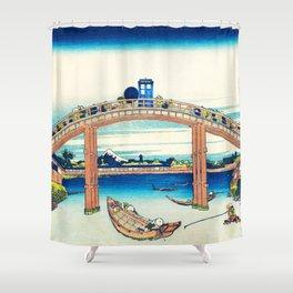 The Bridge Art River Tardis Shower Curtain