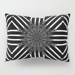 Tribal Black and White African-Inspired Pattern Pillow Sham