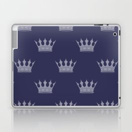 Royal Blue with Light Blue Crowns Laptop & iPad Skin