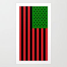 African American Flag (Stars and Stripes Design) Art Print