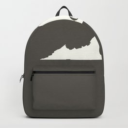 Virginia is Home - White on Charcoal Backpack
