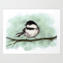 Chicka Chickadee Dee Art Print