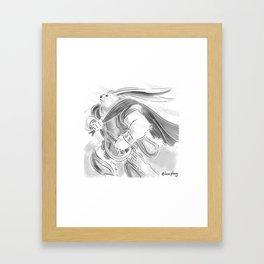 Bunny Warrior Framed Art Print