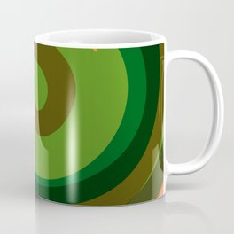Liquid Abstract Green Swirl Coffee Mug