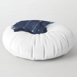 Zodiac Star Constellation - Leo Floor Pillow