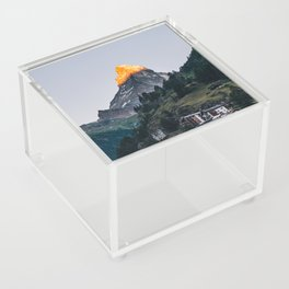 Beautiful Matterhorn in Sunrise Acrylic Box