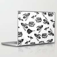 insects Laptop & iPad Skins featuring INSECTS by D E  W I L D E