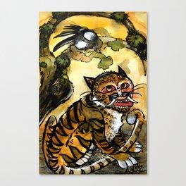 Tiger and Magpie - Hojakdo - A Korean Folktale Canvas Print