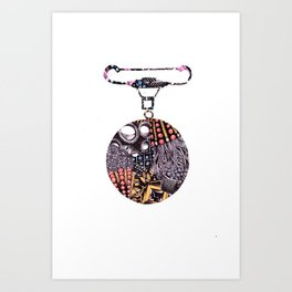 Medal Brooch  Art Print