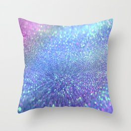 PINK PURPLE GLITTER Throw Pillow