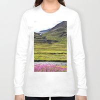 sweden Long Sleeve T-shirts featuring SWEDEN PINK by Hail Of Whales