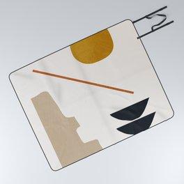 abstract minimal 6 Picnic Blanket