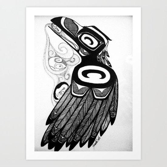 Raven Steals the Water Art Print