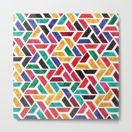 Seamless Colorful Geometric Pattern X Metal Print