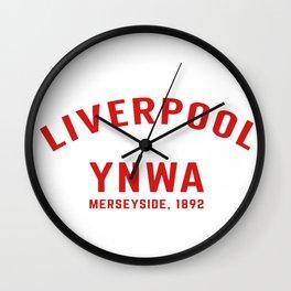 Liverpool tshirt | You'll Never Walk Alone | YNWA shirt | Premier league team Wall Clock