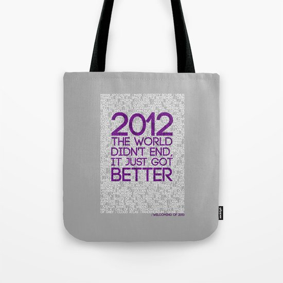 2012...It Was Emotional Tote Bag
